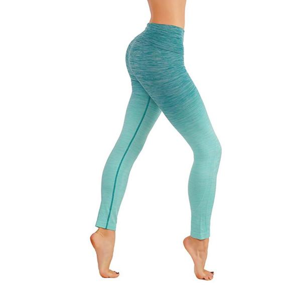 5506a2cad5e0f7 yelete Pants | Blue Sky Yoga Dryfit Leggings Ombre Green | Poshmark